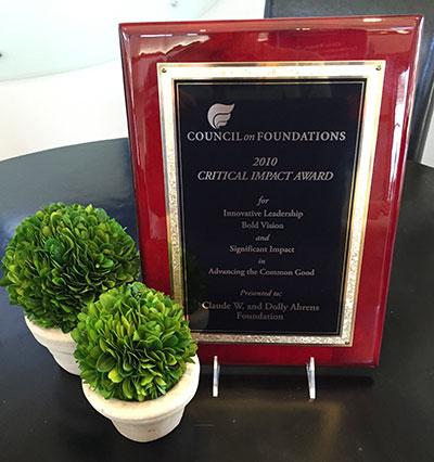 critical impact award plaque