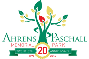 ahrens paschall memorial park 20 year logo