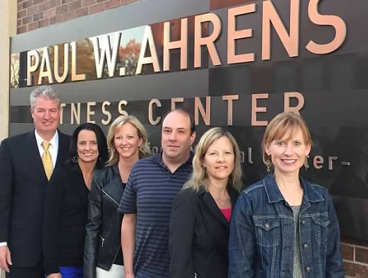paul w. ahrens fitness center sign