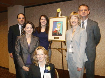 image of cdaf board of directors with art work