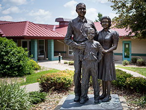Ahrens park foundation statue