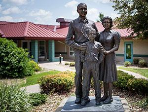 Ahrens park foundation statue