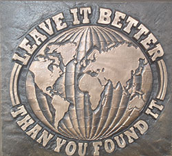 leave it better than you found it plaque