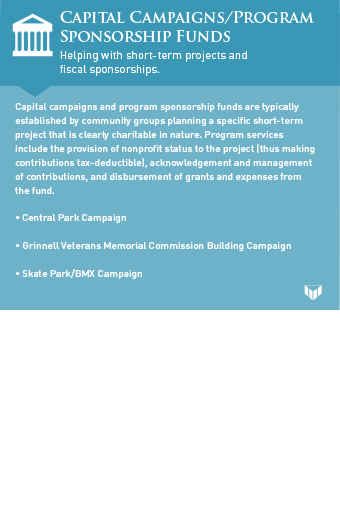 capital campaigns/program sponsorship funds graphic