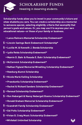 scholarship funds graphic