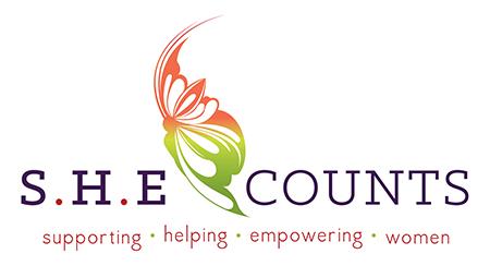 SHE COUNTS logo