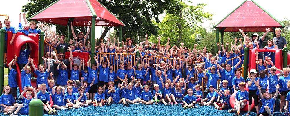 kids on new playground