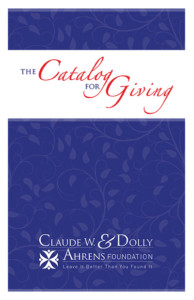 Click the image to view or download the Catalog For Giving