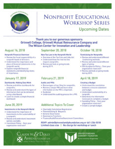 CSS Educational Series Dates Flyer