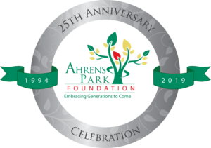 Ahrens Park Foundation 25th Anniversary Logo