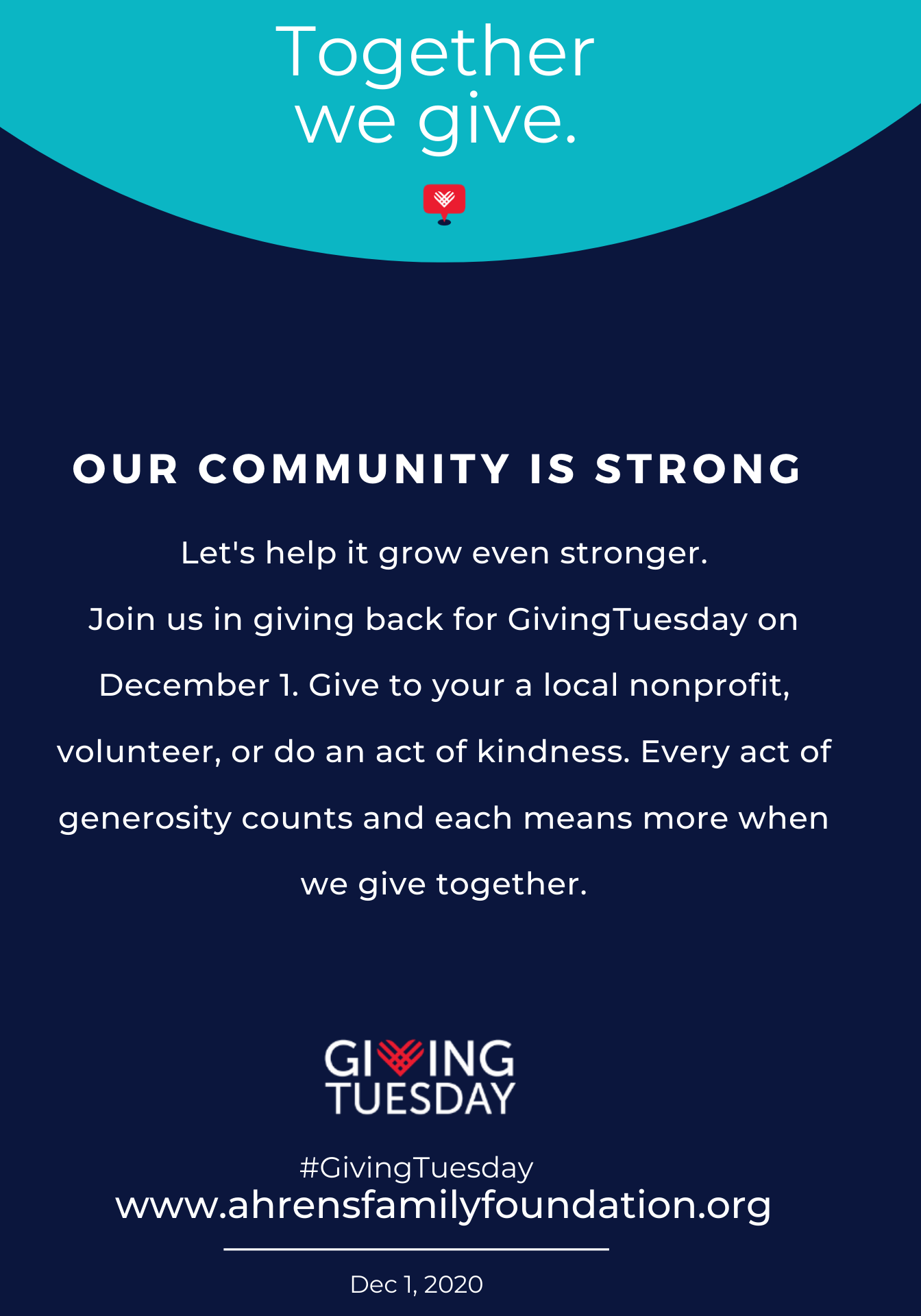 Grinnell let's continue to make our community stronger by a generous gift to one...