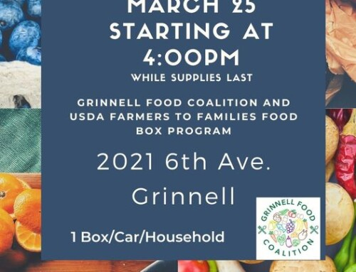 Next Food Box Pick Up is March 25th