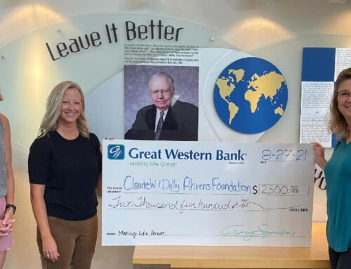 Great Western Bank $2,500 Grant